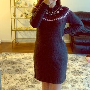 J.Crew embellished sweater dress